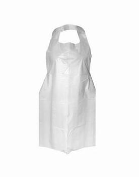 Plastic wegwerp schorten wit 100 stuks