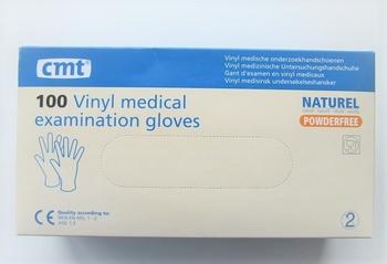 Vinyl handschoenen Wit Poedervrij  Large