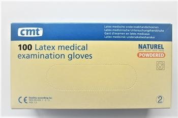 Latex handschoenen wit gepoederd Large