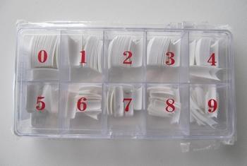 Design French White tips V vorm 250 st. Aktie