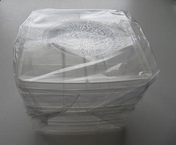 Opberg doos met 3 lagen a 6 vakjes