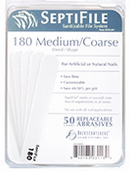 Septifile 180 grit set 50 st.